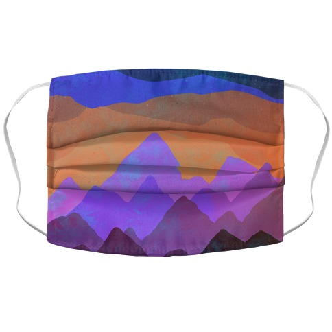 Abstract Mountain Sunset Face Mask