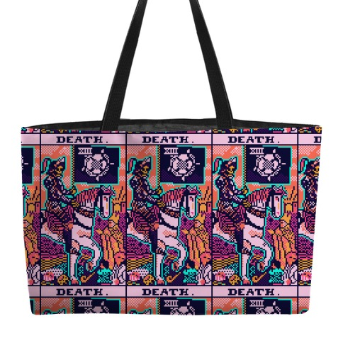 Pixelated Death Tarot Card Weekender Tote
