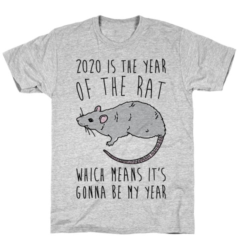 2020 Is The Year of The Rat T-Shirt
