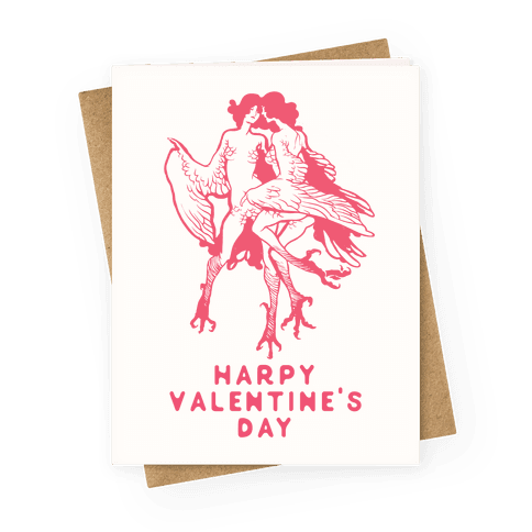 Harpy Valentine's Day Greeting Card