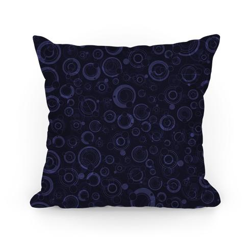 Gallifreyan Text Pattern Pillow