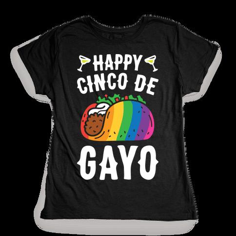 Happy Cinco De Gayo Womens T-Shirt