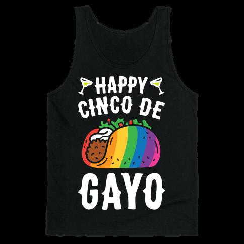Happy Cinco De Gayo Tank Top