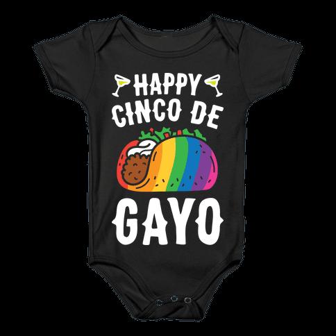 Happy Cinco De Gayo Baby Onesy