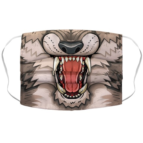 Werewolf Mouth Face Mask Cover