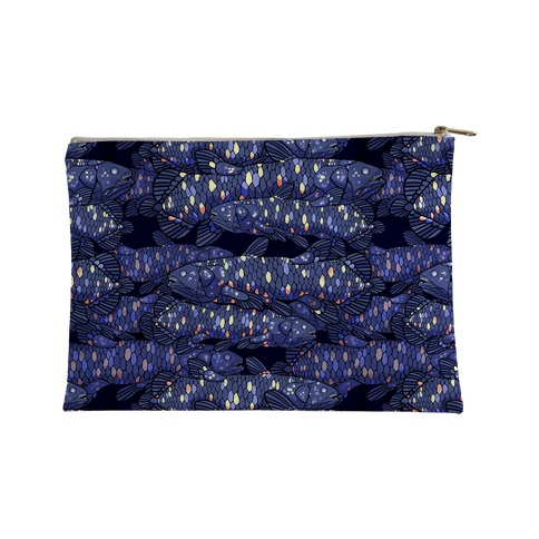 NAUTICAL COELACANTH FISH PATTERN Accessory Bag