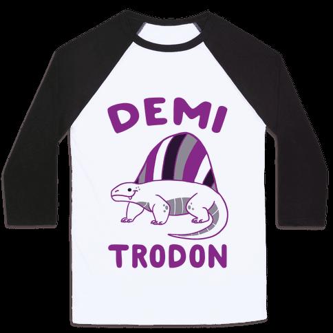 Demi-trodon - Dimetrodon  Baseball Tee