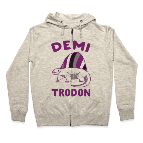 Demi-trodon - Dimetrodon  Zip Hoodie
