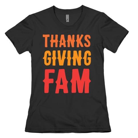 Thanksgiving Fam Womens T-Shirt