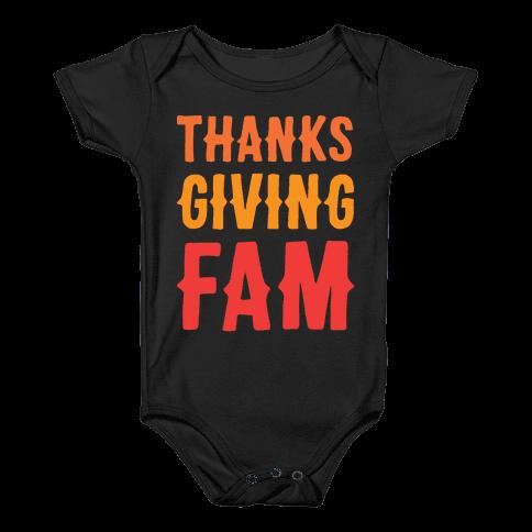 Thanksgiving Fam Baby Onesy