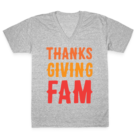 Thanksgiving Fam V-Neck Tee Shirt