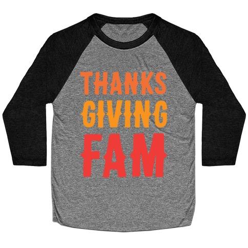 Thanksgiving Fam Baseball Tee