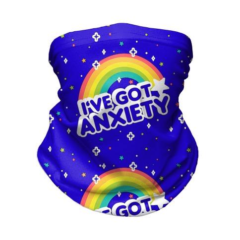I've Got Anxiety Rainbow Pattern Neck Gaiter