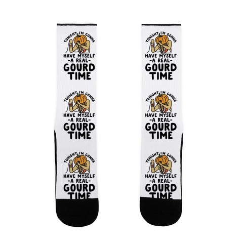 Tonight I'm Gonna Have Myself a Real Gourd Time Sock