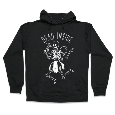 Dead Inside Skeleton Fairy Hooded Sweatshirt
