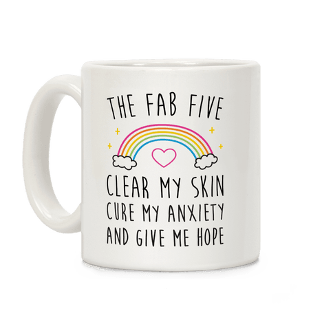 The Fab Five Cure Me Coffee Mug