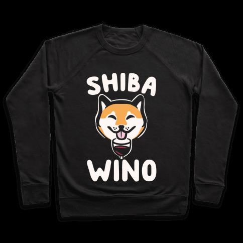 Shiba Wino White Print Pullover