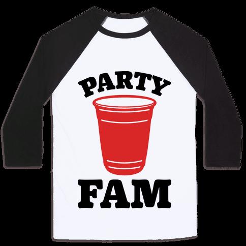 Party Fam Baseball Tee