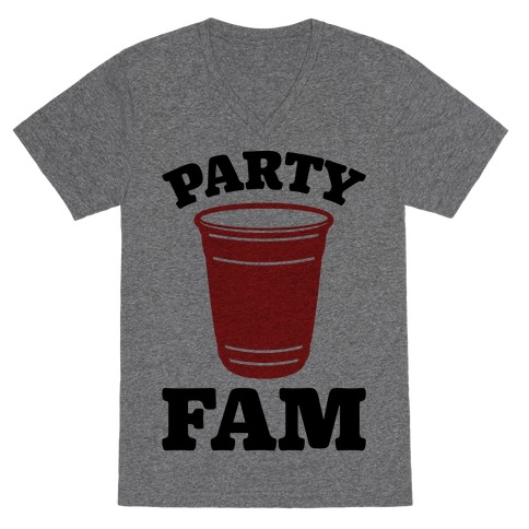 Party Fam V-Neck Tee Shirt