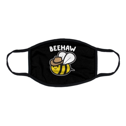Beehaw Cowboy Bee Flat Face Mask