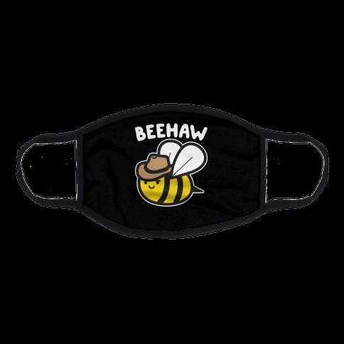 Beehaw Cowboy Bee Flat Face Mask