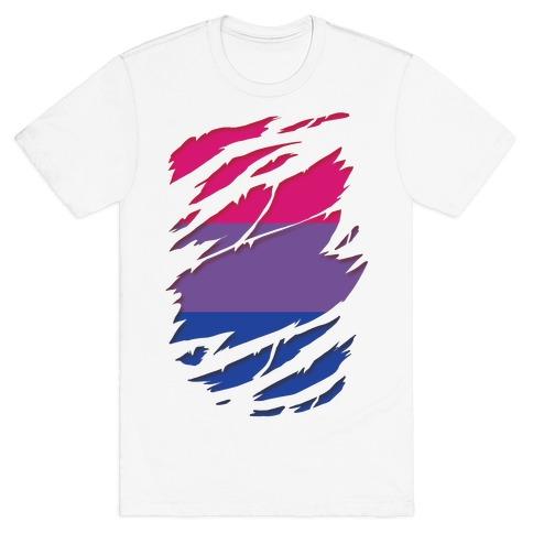 Ripped Shirt: Bi Pride T-Shirt