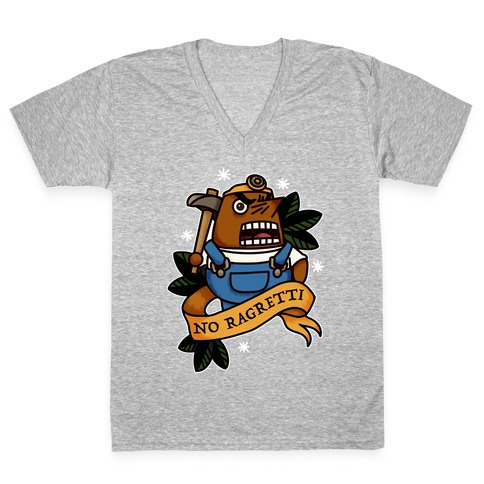 No Ragretti Mr. Resetti V-Neck Tee Shirt
