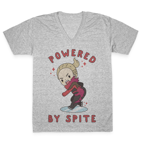 Powered By Spite V-Neck Tee Shirt