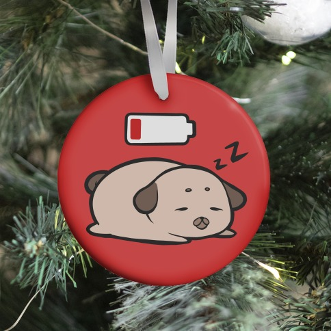 Power Nap (red) Ornament