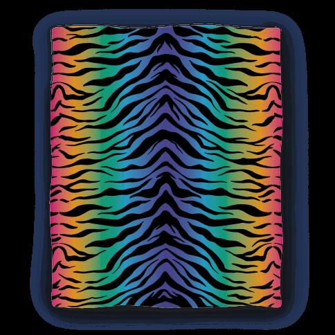 Tiger Stripe Rainbow 90s Pattern Blanket