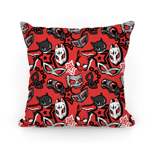 Persona Masks Pattern  Pillow