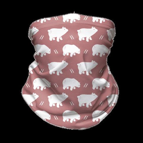Bear Dusty Rose Boho Pattern Neck Gaiter
