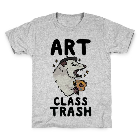 Art Class Trash Opossum Kids T-Shirt