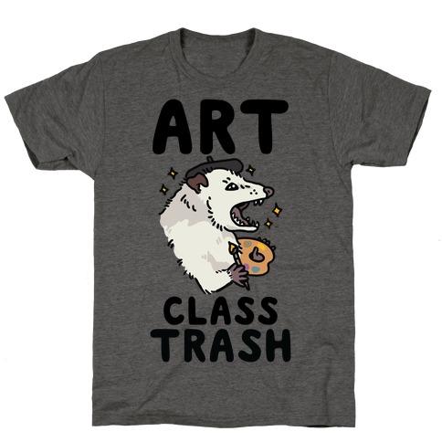 Art Class Trash Opossum Mens/Unisex T-Shirt