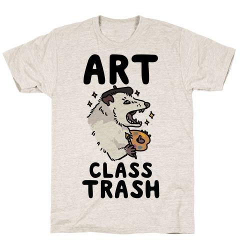 Art Class Trash Opossum T-Shirt