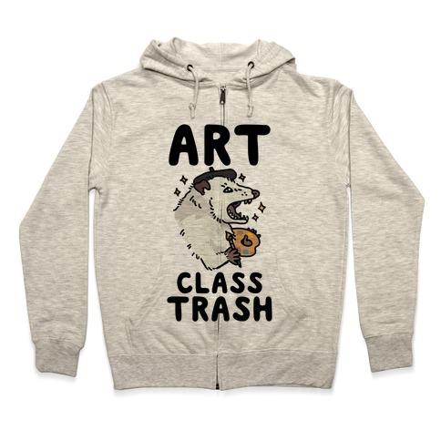 Art Class Trash Opossum Zip Hoodie