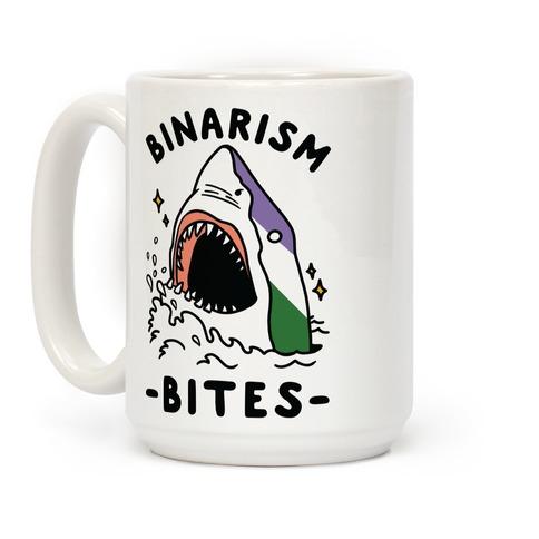 Binarism Bites Genderqueer Coffee Mug