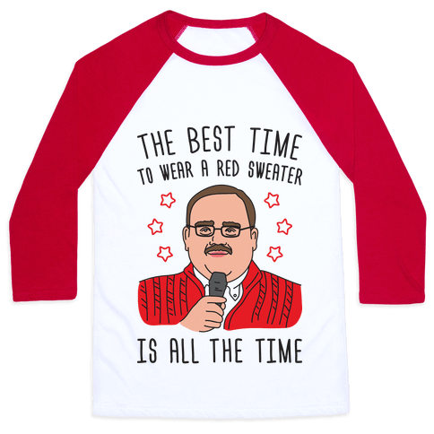 Ken Bone Red Sweater Baseball Tee