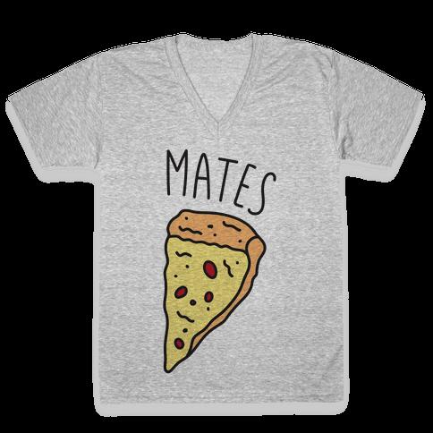Soul Mates Pizza 2 V-Neck Tee Shirt