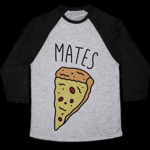 Soul Mates Pizza 2 Baseball Tee