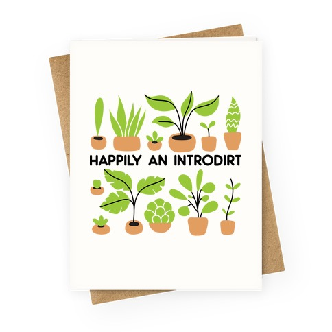 Happily An Introdirt Greeting Card