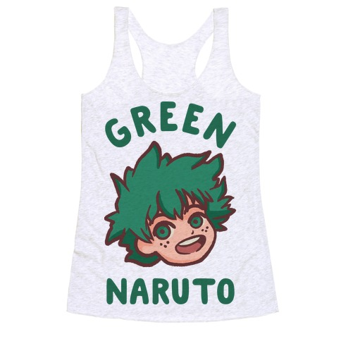 Green Naruto Racerback Tank Top