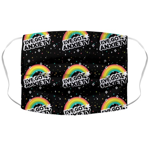 I've Got Anxiety Rainbow Pattern Face Mask Cover