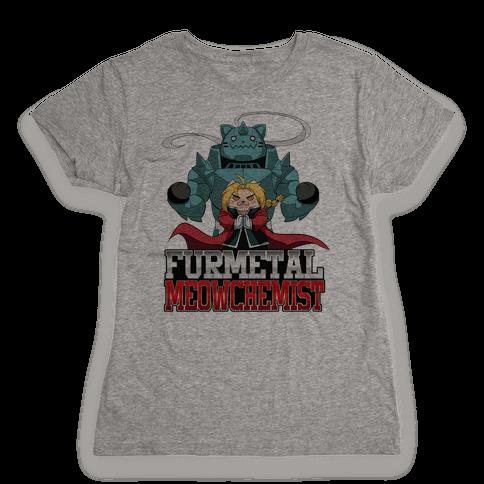 Furmetal Meowchemist Womens T-Shirt