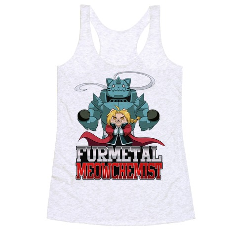 Furmetal Meowchemist Racerback Tank Top