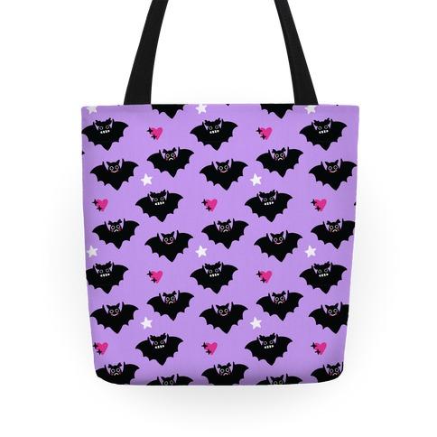 Pastel Goth Bats Pattern Tote