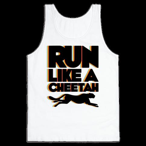 Run Like A Cheetah Tank Top