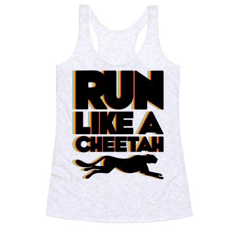 Run Like A Cheetah Racerback Tank Top