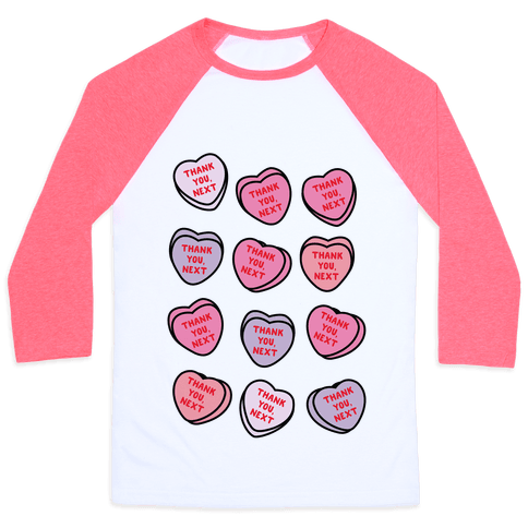Thank You Next Candy Hearts Baseball Tee