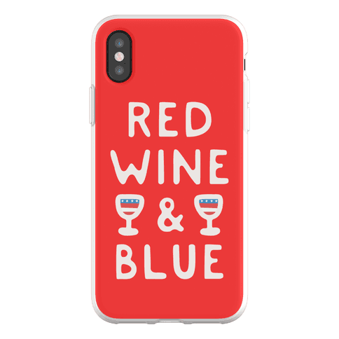 Red Wine And Blue Phone Flexi-Case